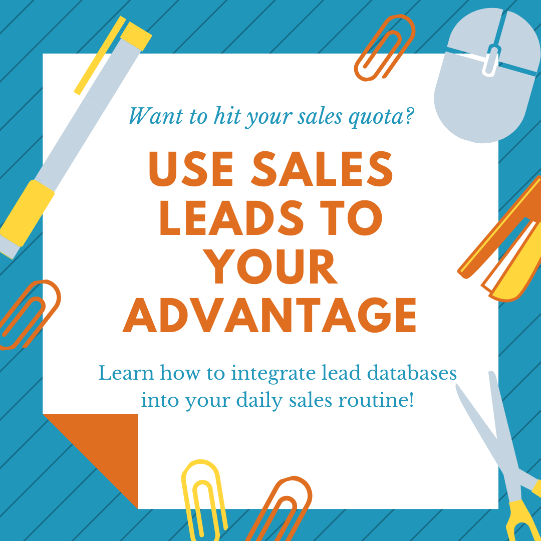 Use Sales Leads to your Advantage
